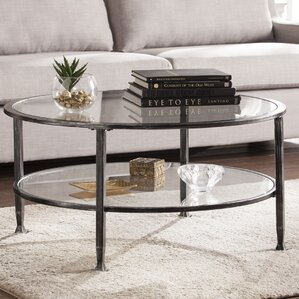Charming Casas Metal And Glass Round Coffee Table