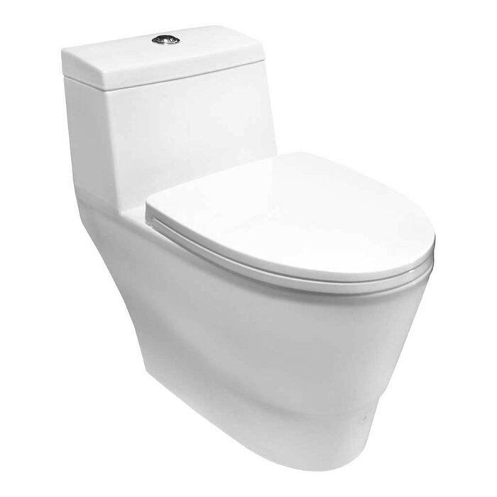 LessCare 1.6 GPF Elongated One-Piece Toilet & Reviews | Wayfair.ca