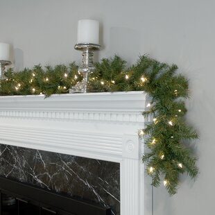 pre lit garland with 50 led lights