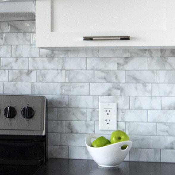 Smart Tiles Mosaik Metro Carrera 11 56 Quot X 8 38 Quot Peel