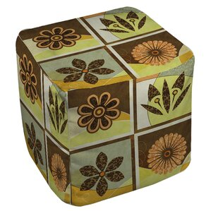 Graphic Garden Sydney Ottoman by Manual Woodworkers & Weavers