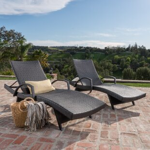 Genial Peyton Adjustable Wicker Chaise Lounge (Set Of 2)