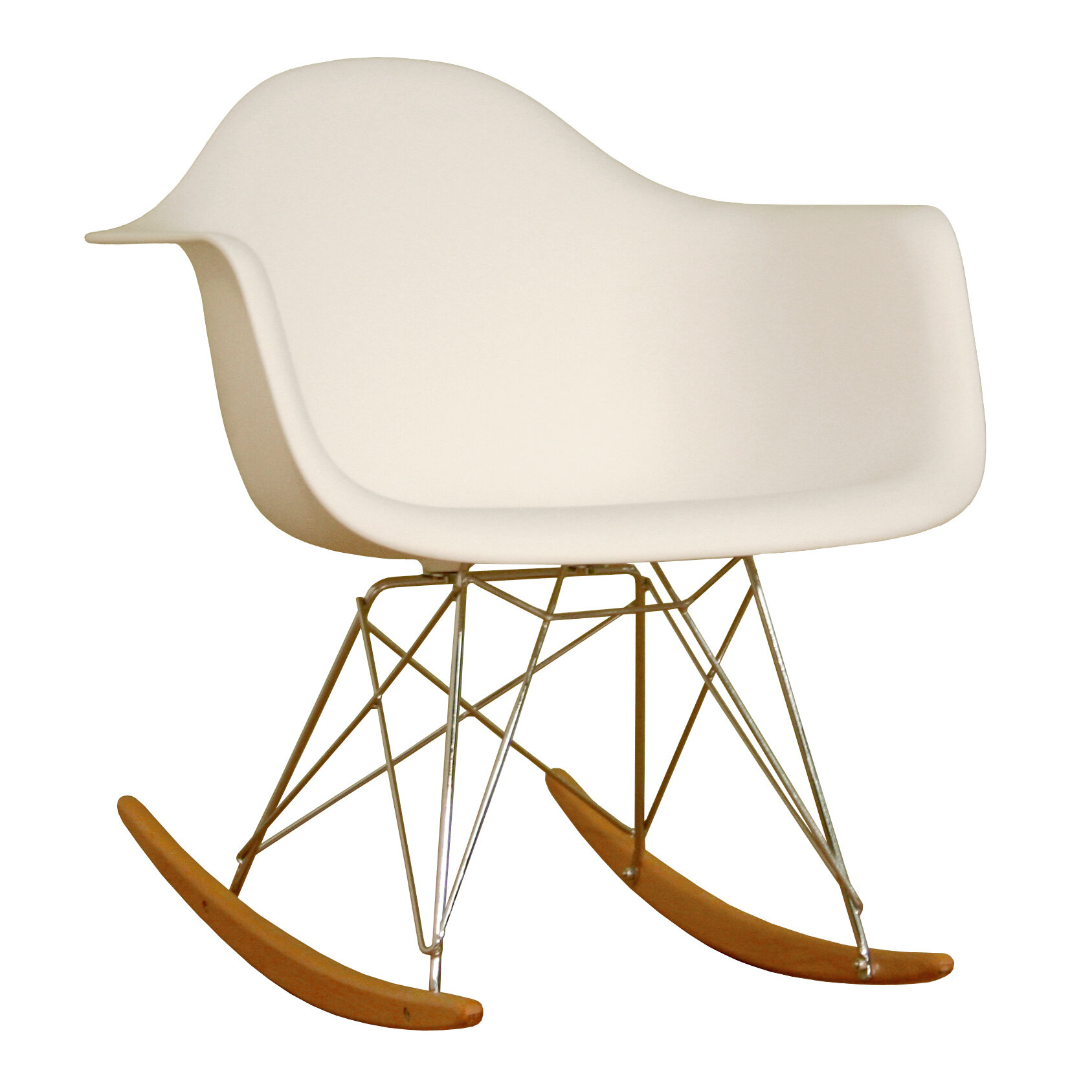 Wholesale Interiors Baxton Studio Mid Century Modern Rocking Chair U0026  Reviews | Wayfair