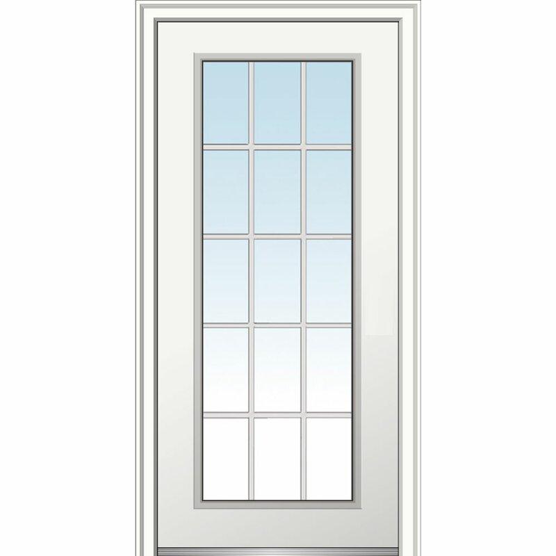 Verona Home Design 15 Lite Fiberglass Smooth Primed Prehung Front