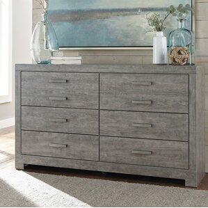 Rosen 6 Drawer Double Dresser by Beachcrest Home