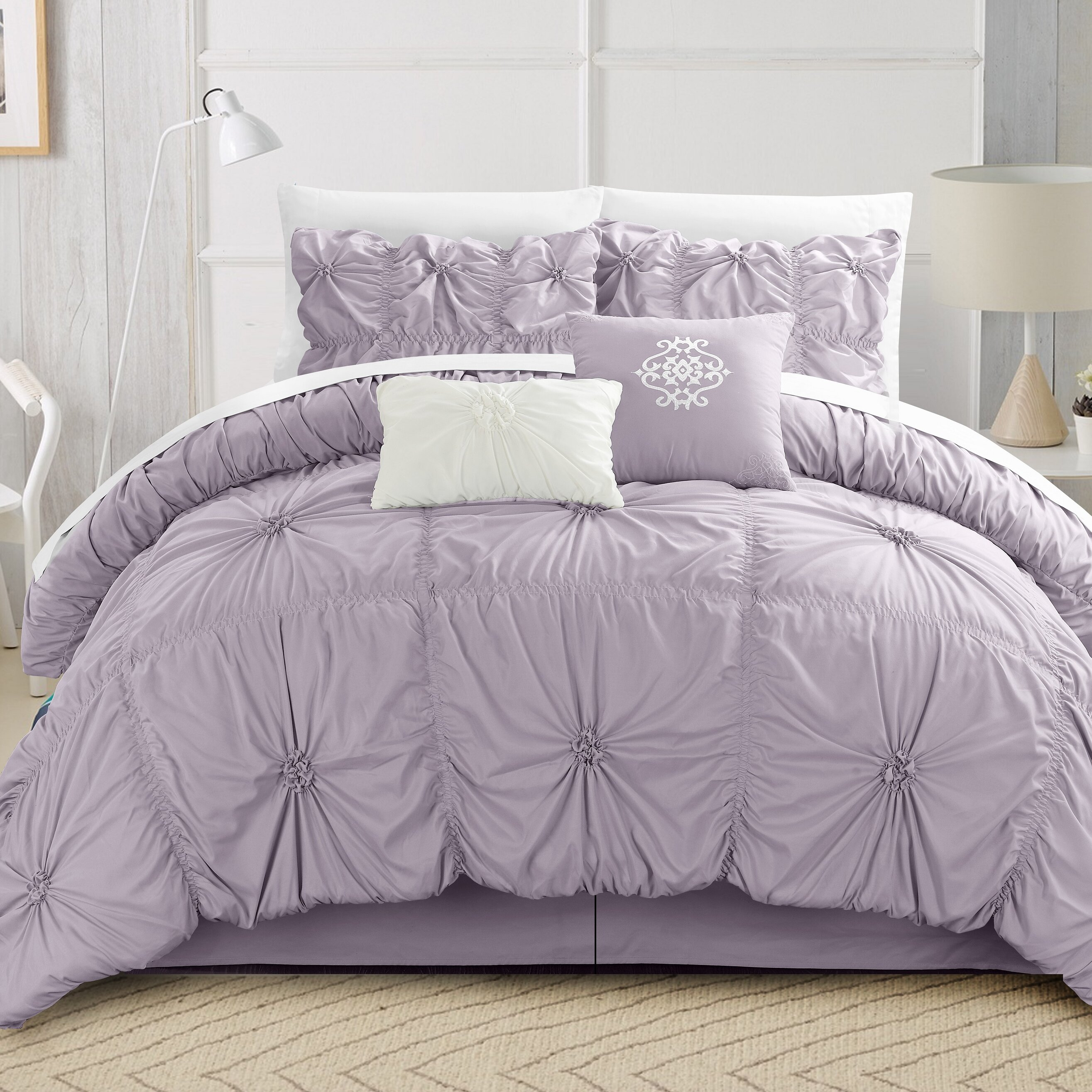 waterford purple p set by linens steel linen prudence bedding comforter