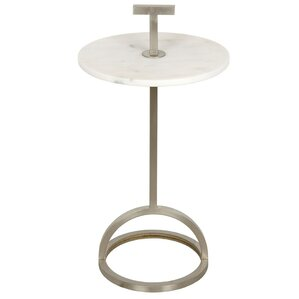 Remy Metal End Table by Noir
