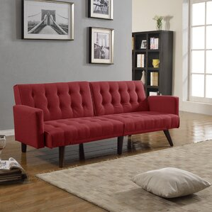Kaylynn Mid Century Convertible Sofa by Langley Street