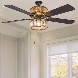 52 Cater 5 Blade Ceiling Fan With Remote Light Kit Included