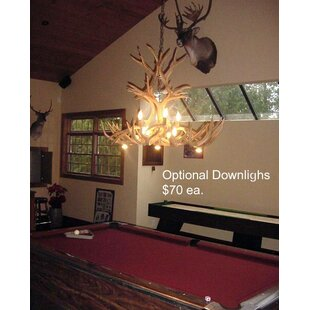 Deer Antler Chandelier Wayfair - Antler pool table light