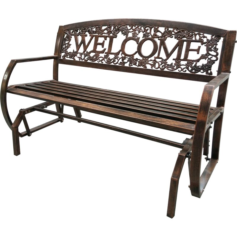 Leighcountry Welcome Double Glider Bench Amp Reviews Wayfair