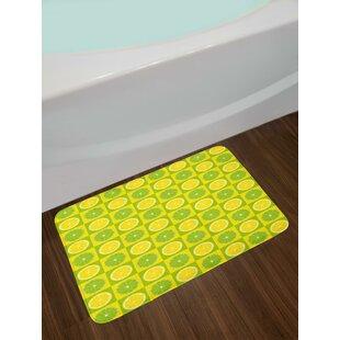 Lemon Lime Green Bath Rug