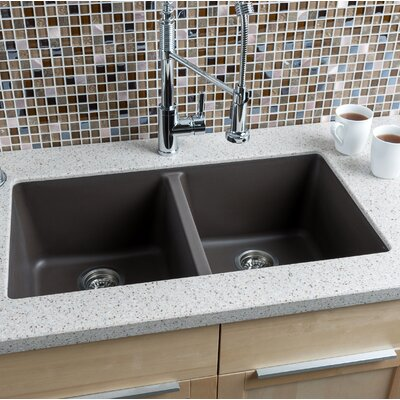 Hahn 33 x 185 granite extra large double bowl kitchen sink wayfair 33 x 185 granite extra large double bowl kitchen sink workwithnaturefo
