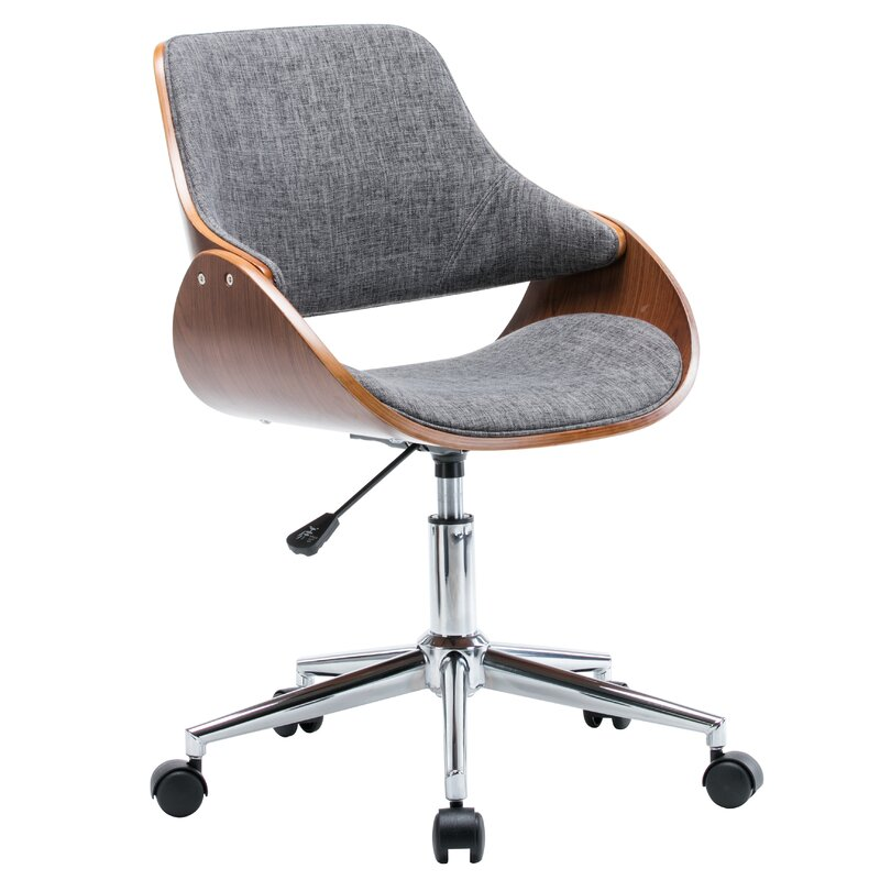 Dimatteo Adjustable Height Office Chair With Caster Wheels