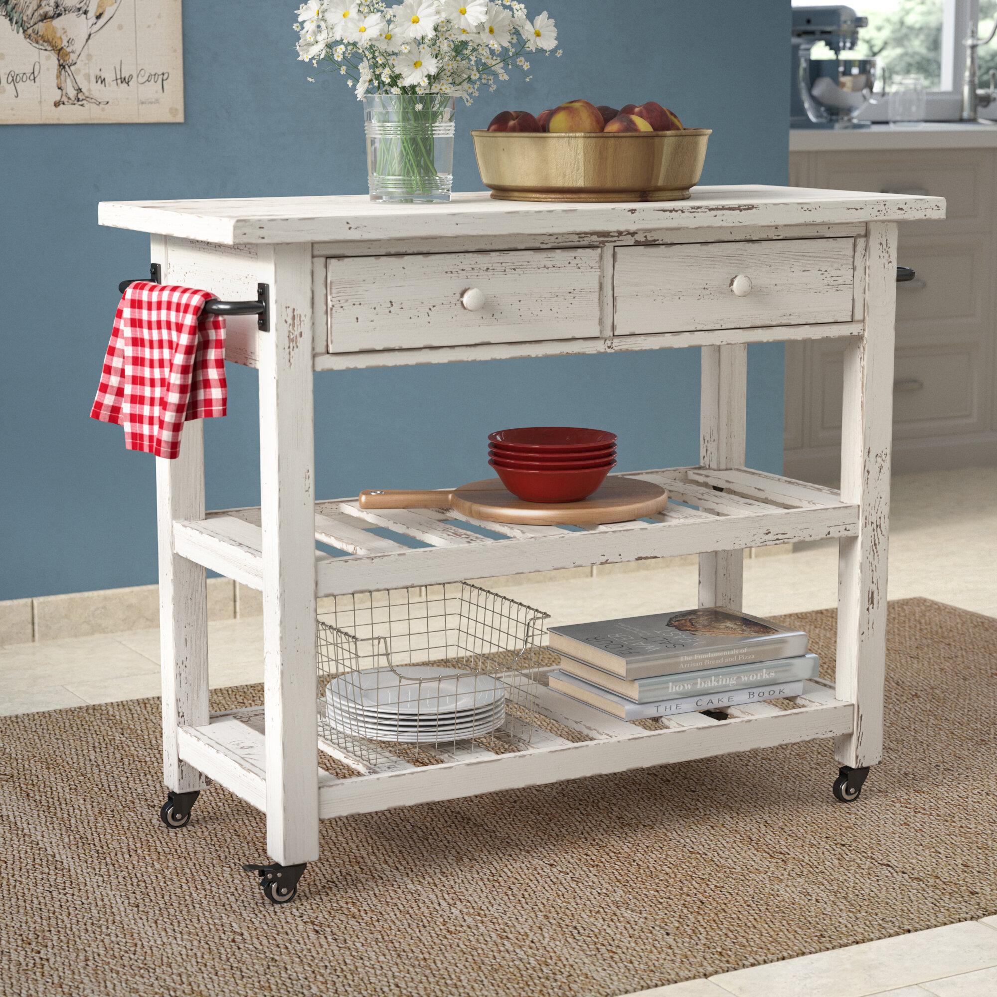 Bedford White Kitchen Cart With Butcher Block Top : Kitchen Baking Cart @TD22 ? Roccommunity