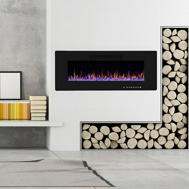 Groovy Hamden Heater Flat Panel Recessed Wall Mounted Electric Fireplace Home Interior And Landscaping Ologienasavecom