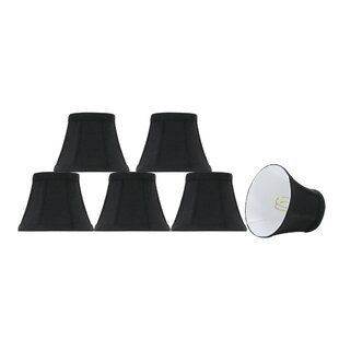 Mini chandelier lamp shades wayfair 5 fabric bell lamp shade set of 6 aloadofball Image collections