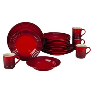 Stoneware 16 Piece Dinnerware Set Service for 4  sc 1 st  Wayfair & Red Dinnerware Sets You\u0027ll Love | Wayfair