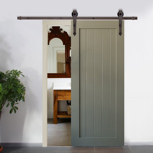 Calhome Vintage Arrow Style Sliding Door Track Barn Door Hardware