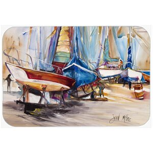 On The Hill Sailboats Kitchen/Bath Mat