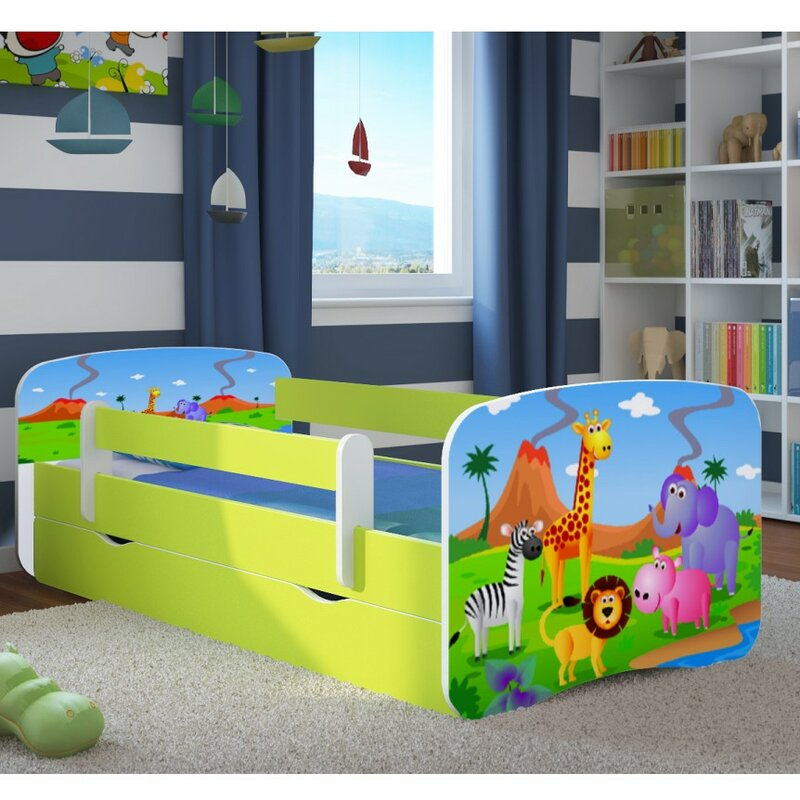 kocot kids funktionsbett safari mit matratze und schublade bewertungen. Black Bedroom Furniture Sets. Home Design Ideas