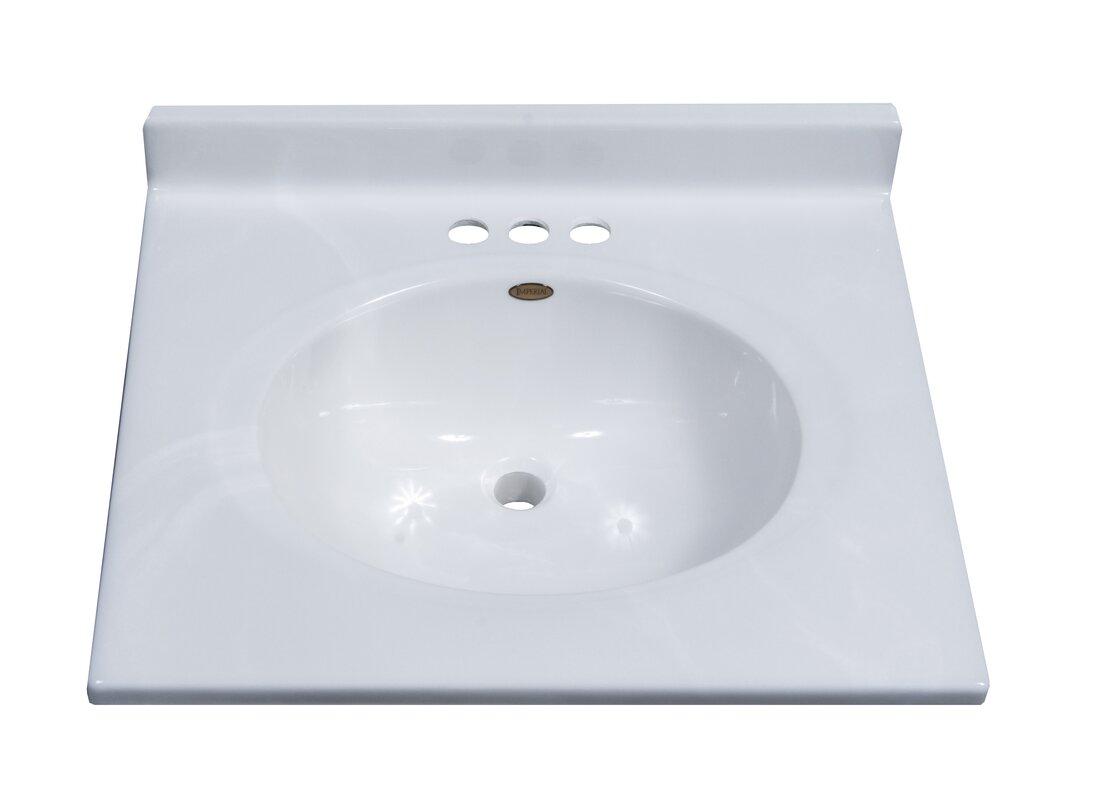 Clic Center Oval Bowl 25 Single Bathroom Vanity Top