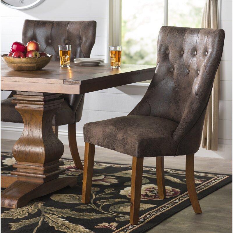Derwent Upholstered Dining Chair & Three Posts Derwent Upholstered Dining Chair \u0026 Reviews | Wayfair