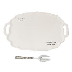 Thanksgiving Turkey 2 Piece Platter Set
