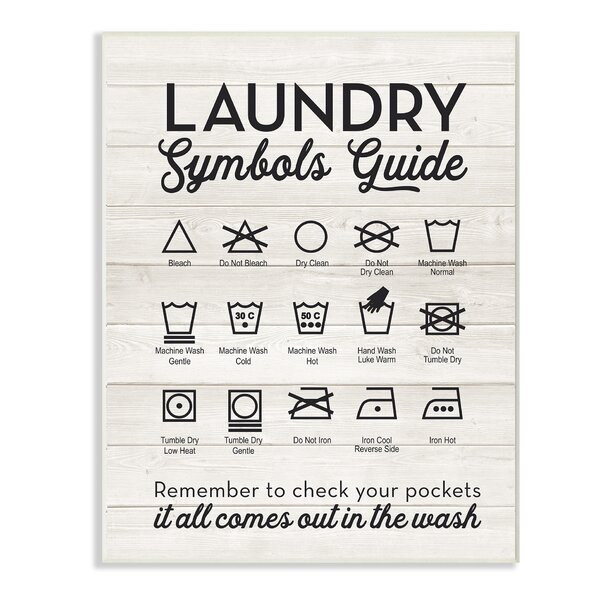 Laundry Symbol Sign Wayfair