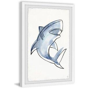 Terrell Shark's Teeth Framed Art by Viv   Rae