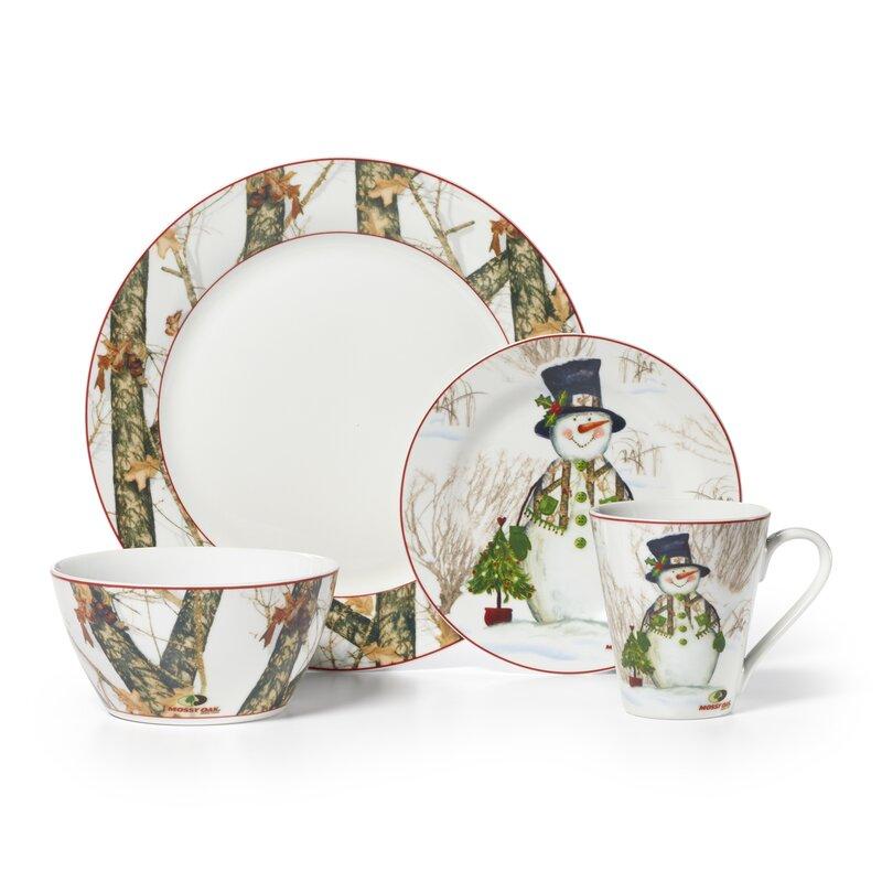 Mossy Oak Snowman 16 Piece Dinnerware Set Service for 4  sc 1 st  Wayfair & Mossy Oak Mossy Oak Snowman 16 Piece Dinnerware Set Service for 4 ...