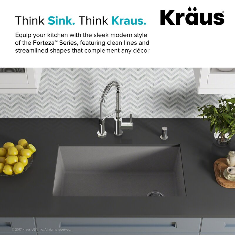 Forteza Kraus 32 X 19 Undermount Granite Composite Kitchen Sink