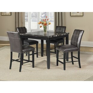 Warba 5 Piece Pub Table Set