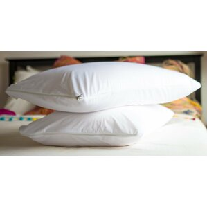 Vinyl Waterproof Pillow Protector with Zipper (Set of 2) by Alwyn Home