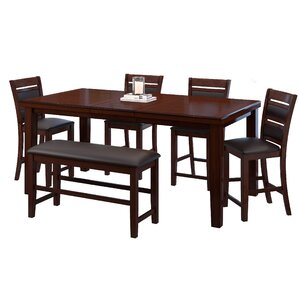 Drago 6 Piece Counter Height Dining Set by World Menagerie