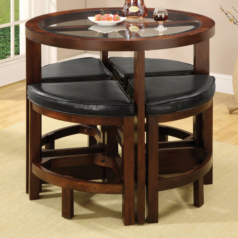 Exceptional Jinie 5 Piece Counter Height Pub Table Set