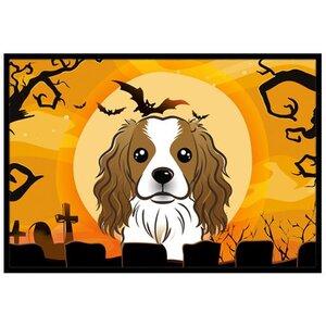 Halloween Cavalier Spaniel Doormat