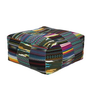 Raina Square Tribal Pouf by Bloomsbury Market