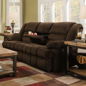 Darby Home Co Simmons Upholstery Mendes Double Motion Reclining Sofa Image
