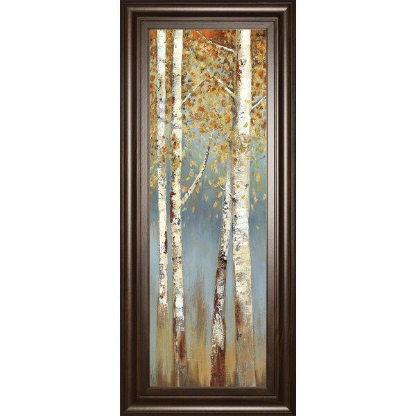 Shades Of Blue Birch Tree Art Wayfair