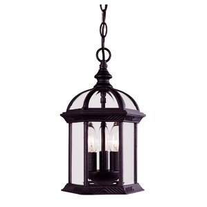 York 3 Light Outdoor Hanging Light