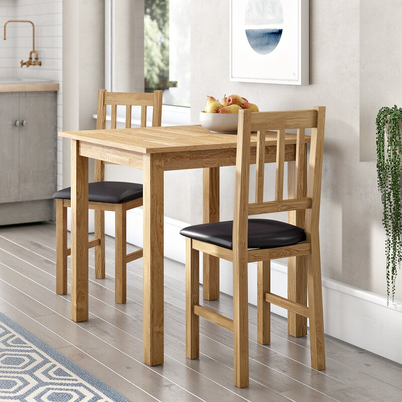 2b1a69ef756 Andover Mills Peaslee Dining Set with 2 Chairs   Reviews