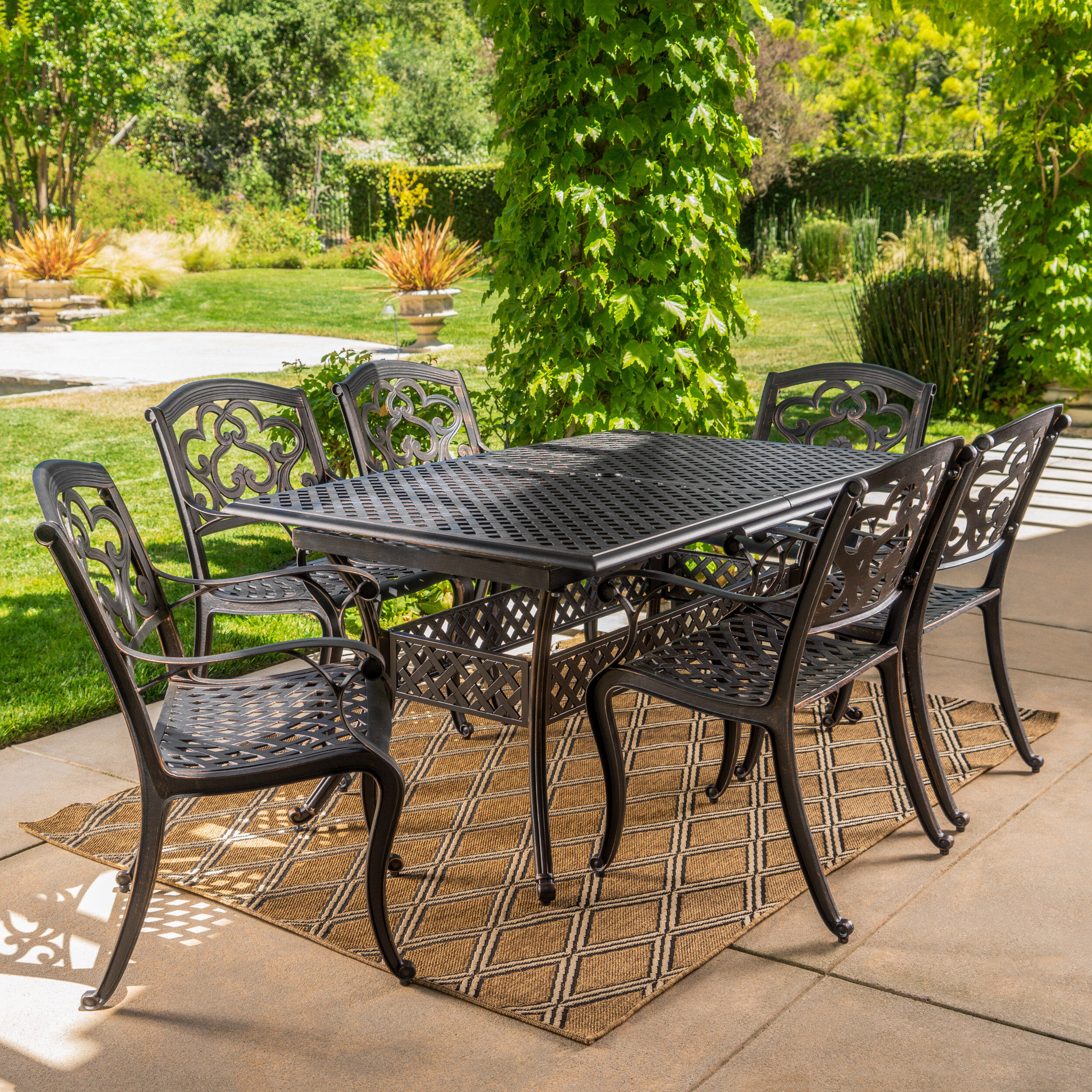 Darby Home Co Savannah 7 Piece Dining Set | Wayfair