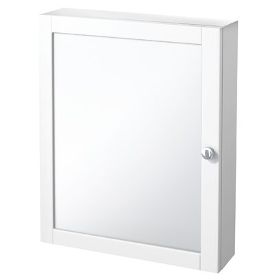 Winston Porter Clarkfield 19 x 23.88 Surface Mount Framed Medicine Cabinet with 2 Adjustable Shelves Finish: White
