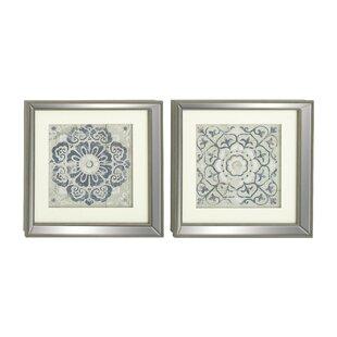 Polystone Mirror Framed Wall Art Set (Set Of 2)