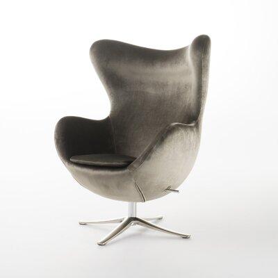 Brayden Studio Fleischman Swivel Balloon Chair Upholstery: Gray