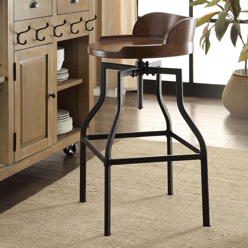 Essonnes Adjustable Height Swivel Bar Stool & Trent Austin Design Essonnes Adjustable Height Swivel Bar Stool ... islam-shia.org