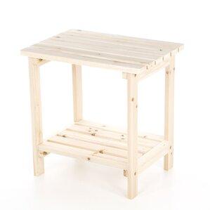 Arcel Rectangular Cedar Side Table