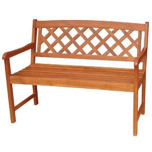 X Back Hardwood Garden Bench