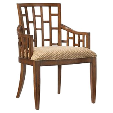 Tommy bahama home ocean club lanai solid wood dining chair for Bahama towel chaise cover